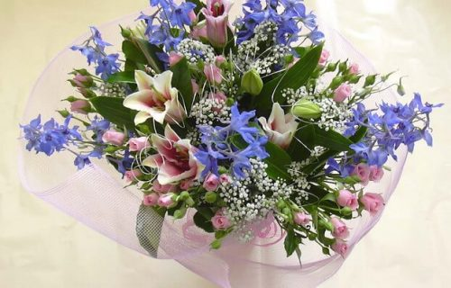 Bouquet of cut flowers - Mixed Purple