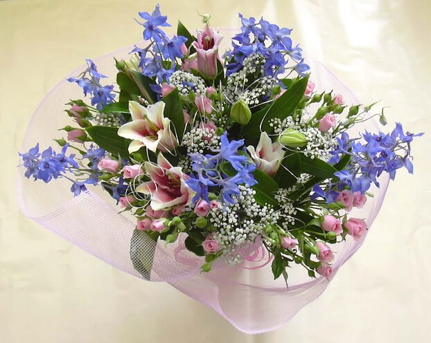 Bouquet of cut flowers - Mixed Purple